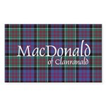 Tartan-MacDonald of Clan Sticker (Rectangle 50 pk)
