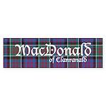 Tartan-MacDonald of Clanranald Sticker (Bumper)