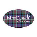 Tartan-MacDonald of Clanranald Oval Car Magnet