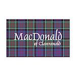 Tartan-MacDonald of Clanranal Rectangle Car Magnet