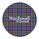 Tartan-MacDonald of Clanranald Round Car Magnet