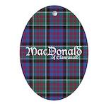 Tartan-MacDonald of Clanranald Ornament (Oval)