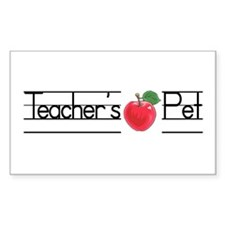 Teacher's Pet Rectangle Decal