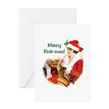 Knitters Christmas - Merry Knit-mas Greeting Card
