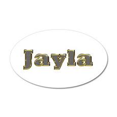 Jayla Gold Diamond Bling 20x12 Oval Wall Decal