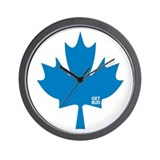 Maple Leaf - Blue logo Wall Clock