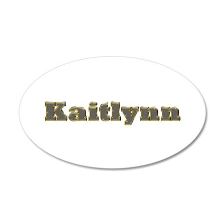 Kaitlynn Gold Diamond Bling 20x12 Oval Wall Decal