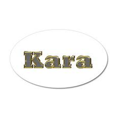 Kara Gold Diamond Bling 20x12 Oval Wall Decal