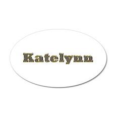 Katelynn Gold Diamond Bling 20x12 Oval Wall Decal