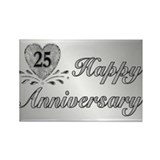 25th Anniversary - Silver Rectangle Magnet (10 pac