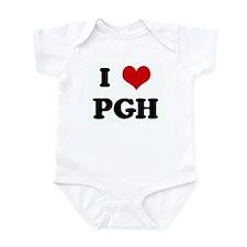 I Love PGH Infant Bodysuit