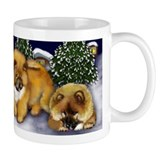 CHOW CHOW DOGS Snowman  Small Mugs