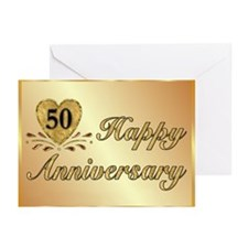 50th - Golden Anniversary Greeting Cards (Pk of 20