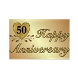 50th - Golden Anniversary Rectangle Magnet (10 pac