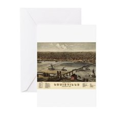 Louisville, Kentucky 1876 Greeting Cards (Pk of 20