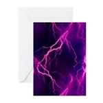Pink Lightning Greeting Cards (Pk of 10)