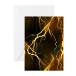 Gold Lightning Greeting Cards (Pk of 10)