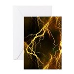 Gold Lightning Greeting Card