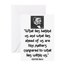 EMERSON - WHAT LIES WITHIN US. Greeting Card