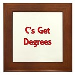 C Gets Degree Framed Tile