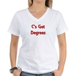 C Gets Degree Women's V-Neck T-Shirt