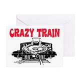 CRAZY TRAIN Greeting Cards (Pk of 20)