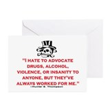 HUNTER S. THOMPSON QUOTE (ORIGINAL) Greeting Cards