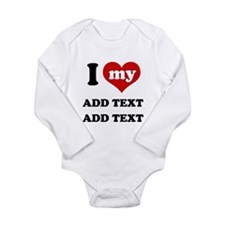 Cool I love my wife bumper Long Sleeve Infant Bodysuit
