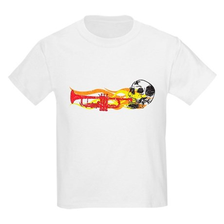 Skull Trumpet Kids Light T-Shirt