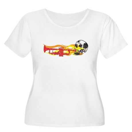 Skull Trumpet Women's Plus Size Scoop Neck T-Shirt