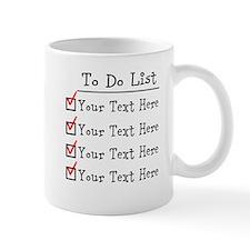 Editable To Do List Mug