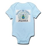Happy Birthday JULIANNA (peac Infant Bodysuit