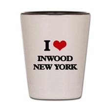 I love Inwood New York Shot Glass