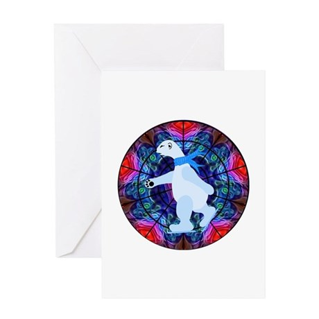 Skating Polar Bear Greeting Card