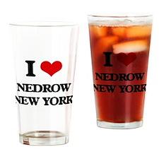 I love Nedrow New York Drinking Glass