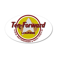 Ten-Forward 35x21 Oval Wall Decal