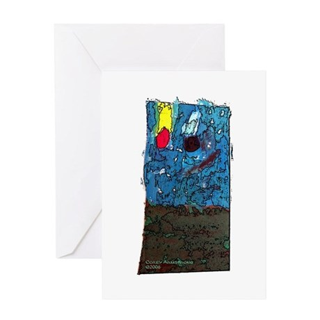 Two Asteroids Greeting Card