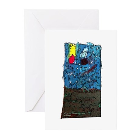 Two Asteroids Greeting Cards (Pk of 20)