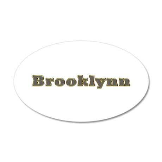 Brooklynn Gold Diamond Bling 35x21 Oval Wall Decal