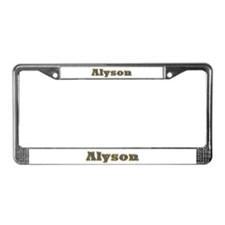 Alyson Gold Diamond Bling License Plate Frame