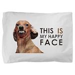 Happy Face Dachshund Pillow Sham