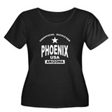 Phoenix Women's Plus Size Scoop Neck Dark T-Shirt
