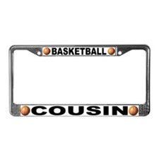 Basketball Cousin License Plate Frame