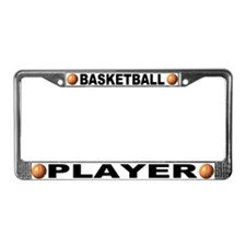 Basketball Player Chrome Steel License Plate Frame