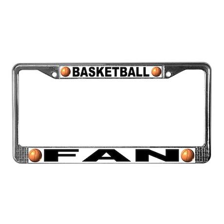 Basketball Fan Chrome Steel License Plate Frame