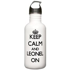 Keep Calm and Leonel O Water Bottle