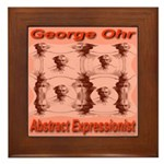 George Ohr Abstract Expressio Framed Tile
