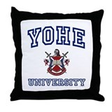 YOHE University Throw Pillow