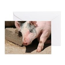 Walking Pig Greeting Card