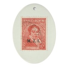 Argentinean Stamp - Oval Ornament